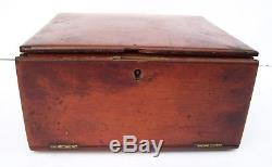 100+ Antique/Vintage Microscope Slides With Turn Of The Century Wooden Box