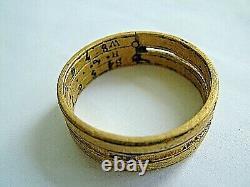 17thC Copper Alloy Poke Ring or Portable Ring Sundial Engraved