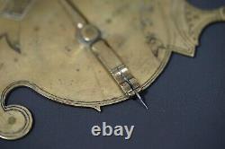 1841 Rare Antique European Brass Vertical Traveling Disc Sundial Clock E. P. G. 46