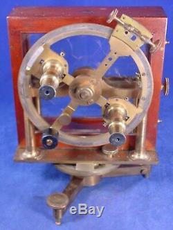 1850 Henry Barrow & Co. Kew Pattern Dip Circle, Magnetic Variation for Compass