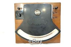 1890 WESTON Direct Read ELECTRICAL INSTRUMENT 125 VOLTMETER Gauge NEWARK 1st Gen