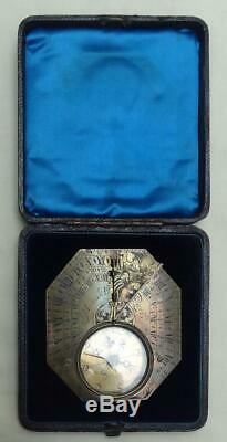 18th C Pocket Sundial Brass Butterfield Type by Menant Paris