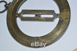 18th century brass ring dial