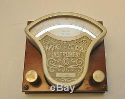 1900's Whitney Electrical Instrument Direct & Alternating Current Roller Ammeter