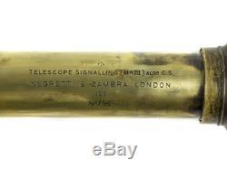 1911 British Military Mk III Negretti & Zambra Brass Telescope