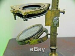 ANTIQUE EARLY 1800s GEORGIAN VICTORIAN OLD CARY GOULD POCKET FIELD MICROSCOPE