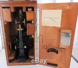 ANTIQUE / EARLY 1900s LEITZ WETZLAR MICROSCOPE IN ORIGINAL BOX
