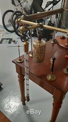 ANTIQUE ÉLECTROSTATIQUE tube étincelant leyden jar XIXem wimshurst Ramsden radio