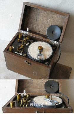 ANTIQUE GERMAN INSTRUMENT DEVICE TELEPHONE LINE MEASURING / PJB / 1900s