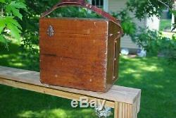 ANTIQUE HELLER BRIGHTLY TRANSIT 8664 BRASS With BOX SURVEY INSTRUMENT BRASS
