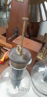 ANTIQUE scientifique instrument pile de Grenet 1880 leyden jar phonograph tsf