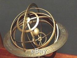 ARMILLARY SPHERE Decorative Large Style Brass