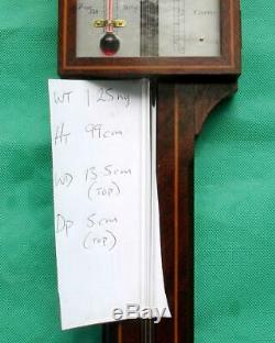 A. Committi & Son George III Style Feather Fan Mahogany Stick Barometer