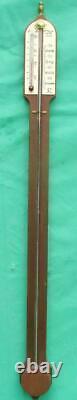 A. Committi & Son London English Mahogany Stick Barometer