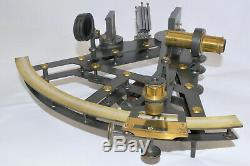 A Good 8 inch Double Frame Sextant Gilbert, London