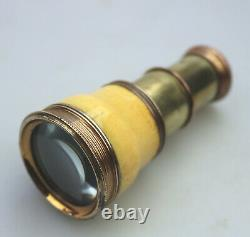A good antique Regency 2-draw Monocular Spyglass novelty Pocket Telescope C. 1820