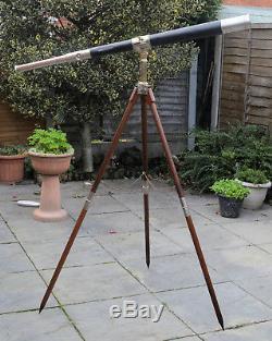 A large presentation telescope & tripod in case by Elliott Bros, London