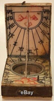 A miniature Diptych Sundial, Nuremberg, Circa 1720