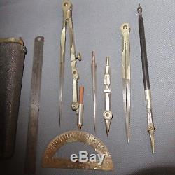 An Early 19th Century Shagreen Drawing Instruments Etui