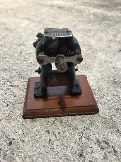 Antique 1800s Small Knapp Lil Hustler Edison Dynamo Bipolar Electric Motor