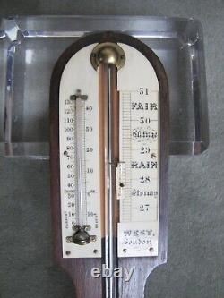 Antique 1800s or Earlier English Stick Thermometer & Barometer. West London