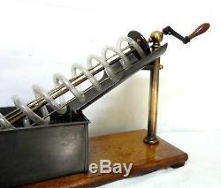 Antique 1840 Archimedes Screw Model Pixii Of Paris Demo Ultra Rare Museum Piece