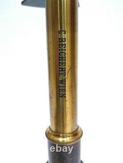 Antique 1880 Rarest 1st Version Reichert Polarimeter Microscope Lab Equipment
