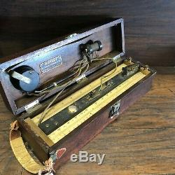 Antique 1890's Whitney Electrical Instrument Co AC DC Telegraph Wire Ohmmeter