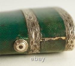 Antique 18th Century Green Shark Skin Silver Etui