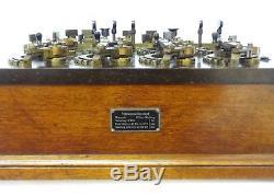 Antique 1900 Siemens Halske German Rheostat Wooden Electricity Sci Lab Steampunk