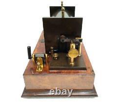 Antique 19th Large & Rare Leybolds Nachfolger German Ruhmkorff Induction Coil