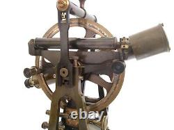 Antique 19th Theodolite Rare & Large 18´´ Tall Troughton & Simms 12¨ Telescope