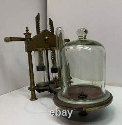 Antique 19th c. Vacuum pump by Pierre Ambroise Richebourg- Paris circa 1840s