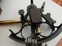 Antique 3 ring Expedition Sextant by Gebroeders Caminada, Rotterdam & box etc