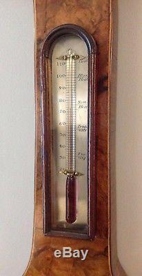 Antique 8 Walnut wheel barometer circa 1830