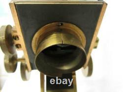 Antique ANDREW ROSS Brass Wenham Binocular Compound Microscope Circa 1850