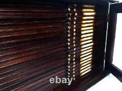 Antique A Gallenkamp & Co LTD Large Wooden & Glazed Microscope Slide Cabinet Box