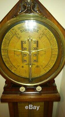 Antique Admiral Fitzroy Royal Polytechnic Barometer, 19th century, restored