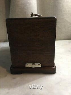 Antique Barograph Barometer France L & M Manhattan Marine & Original Key