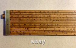 Antique Boxwood Dring & Fage Custom And Excise Double Slide Rule C1845-9