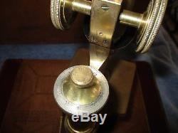 Antique Brass Bausch & Lomb Pat Feb 16th 1897 Microscope
