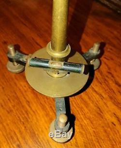 Antique Brass Dip Needle Compass Inclinometer Surveying Mining Scientific