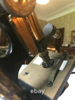Antique Brass Praxis Microscope by W. Watson & Sons c1919, Cased & Collectable