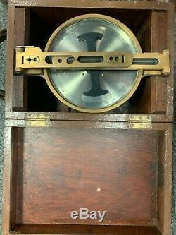 Antique Brass Survey Miners Dial Compass