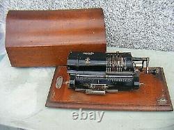 Antique Britannic Calculator Adding Machine With Case