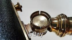 Antique Broadhurst Clarkson, Brass, 3-inch Achromatic Refractor Library Telescope