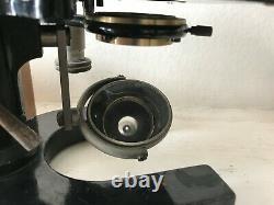 Antique C Reichert of Wien Microscope #56572 in box, lenses & eyepieces & slides