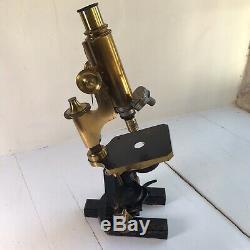 Antique Carl Zeiss Jena Monocular Microscope circa 1884