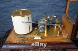Antique Cased Barograph by Chadburns of Liverpool Scientific Display