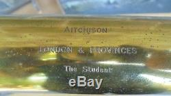 Antique Cased Lacquered Brass Telescope By Aitchison